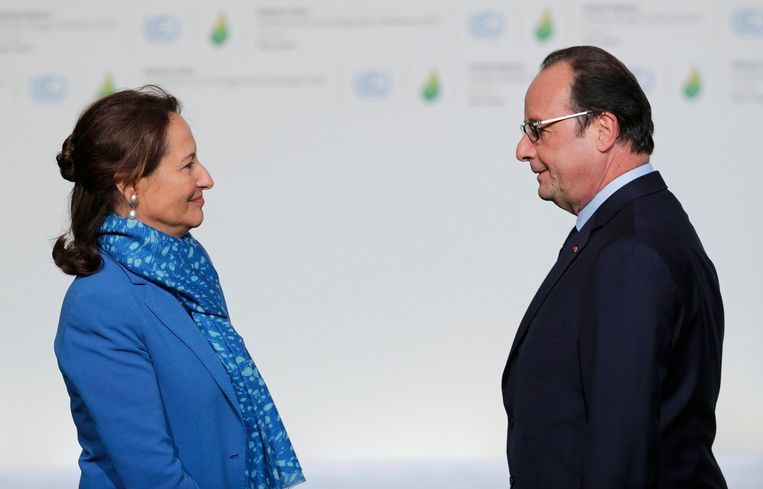 François Hollande en Ségolène Royal in 2015. Beeld REUTERS