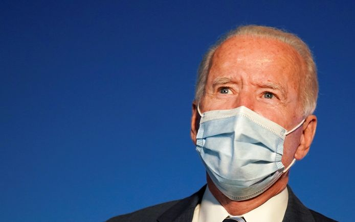 De Amerikaanse presidentskandidaat voor de Democraten, Joe Biden.