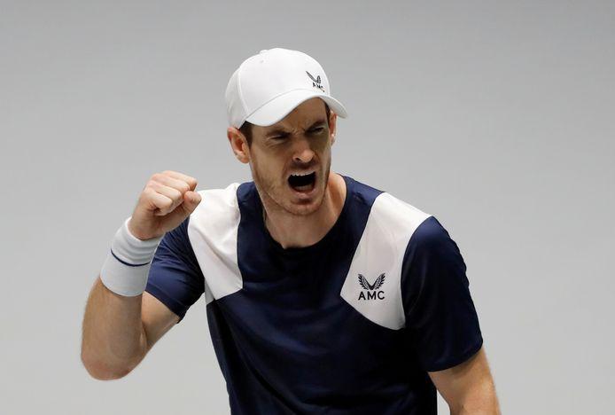 Andy Murray vorig jaar tijdens de Davis Cup tegen Tallon Griekspoor van Nederland.