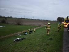 Motorrijder gewond na val op dijk in Angeren