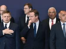 Cameron zit met EU-leiders tijdens pijnlijk 'Brexitdiner'