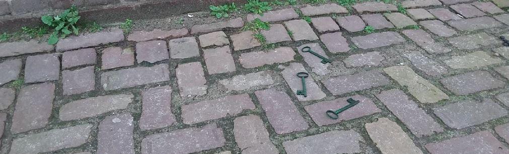 Een voorbeeld van hoe de sleutels kunnen worden aangetroffen.