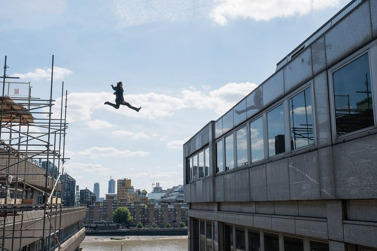 Tom Cruise als Ethan Hunt in 'Mission: Impossible –Fallout' Beeld RV Paramount