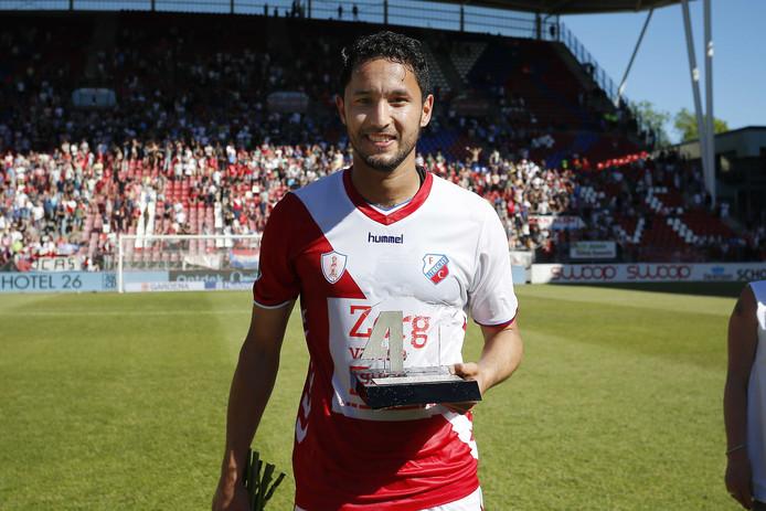 Mark van der Maarel na het vorige seizoen met de David di Tommaso-trofee