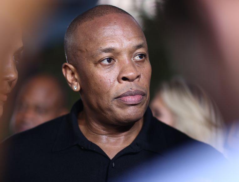 Dr. Dre bij de premiére in Los Angeles van de film Straight Outta Compton. Beeld AP
