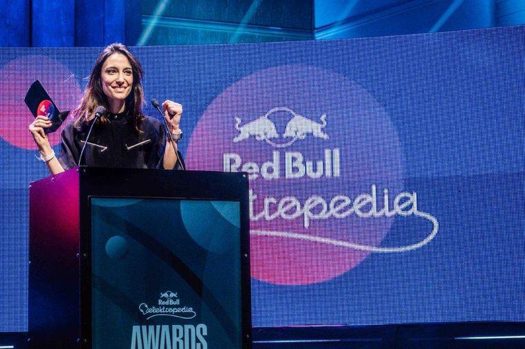 Amélie Lens werd tot de beste Belgische dj gekroond, voor 2ManyDJs en Faisal. Beeld rv / Jan Opdekamp