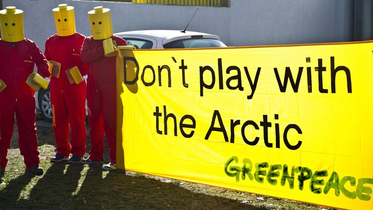 Greenpeace-activisten. Beeld afp