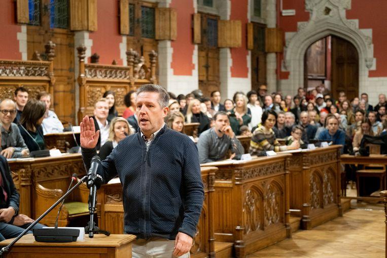 Dirk Tuypens legde begin januari de eed af als eerste PVDA'er in Mechelen ooit.