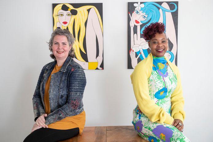 Nicole Rintjema (links) en Christien Tol organiseren vanwege Internationale Vrouwendag op 7 maart allerlei online activiteiten.