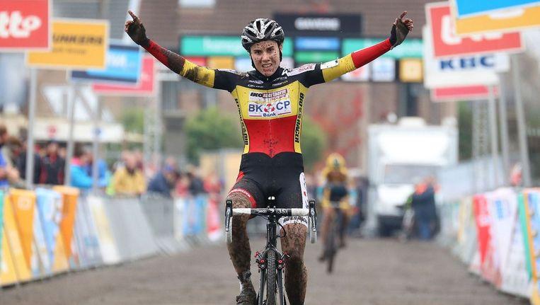 Belgisch en Europees kampioene Sanne Cant had ook in Koksijde geen medelijden met de concurrentie. Beeld PHOTO_NEWS