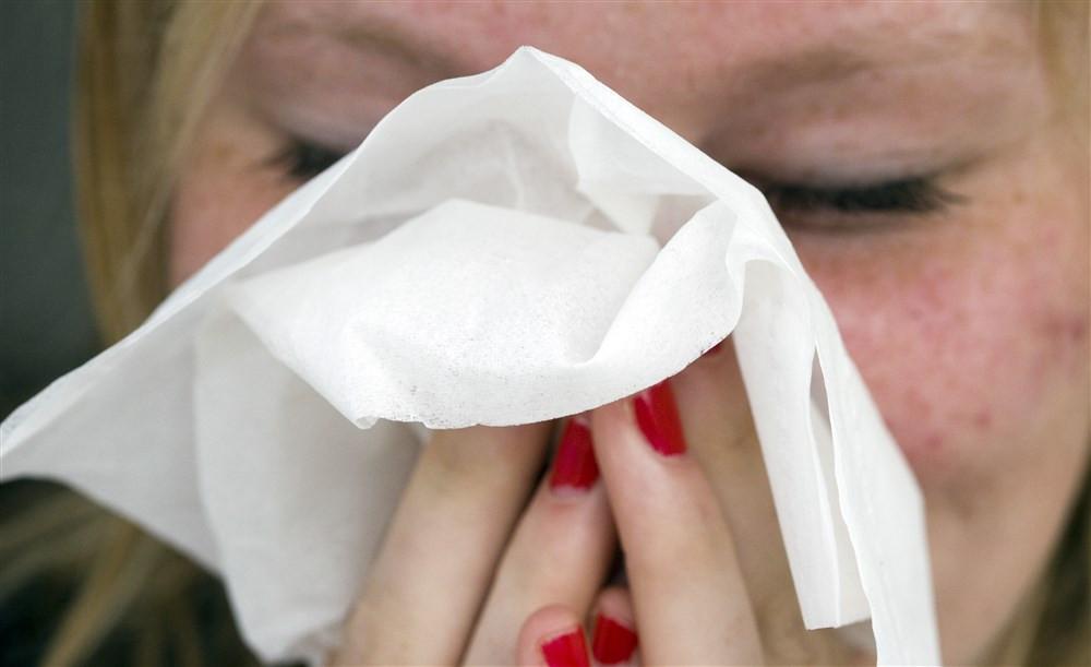 De kenmerken van hooikoorts zijn onder andere niezen, jeuk in de neus, een verstopte neus of een loopneus.