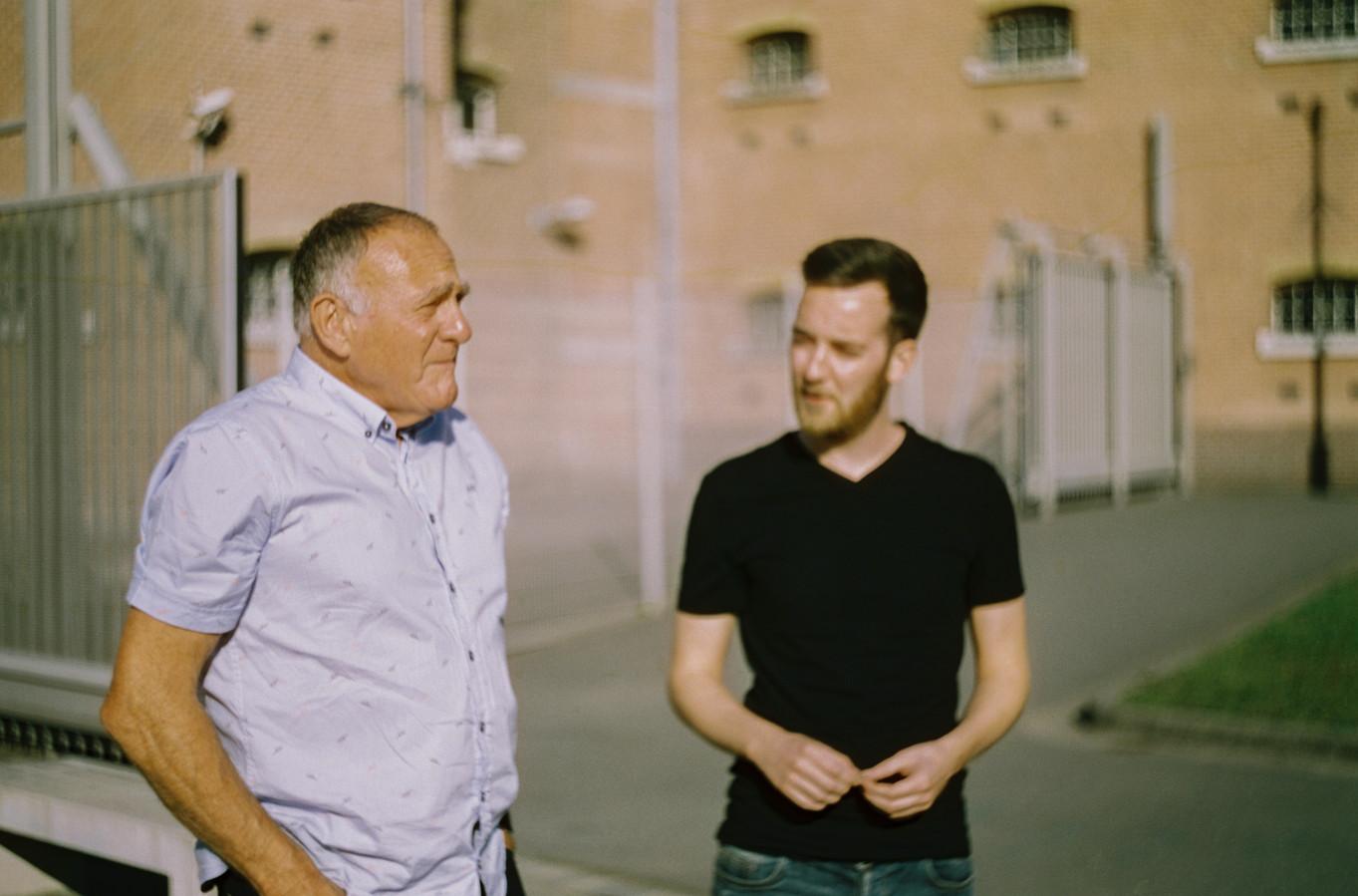 Ton Mink (L) en Troy Gazan
