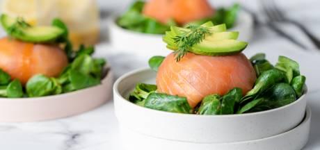 Wat Eten We Vandaag: Gevulde zalmbonbon met kruidenroomkaas