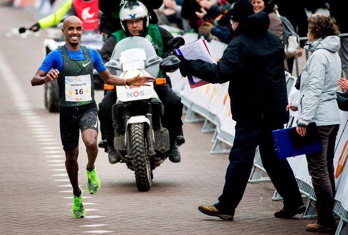 Mohamed Ali, was de beste Nederlandse man, eerder in Egmond tijdens de halve marathon.