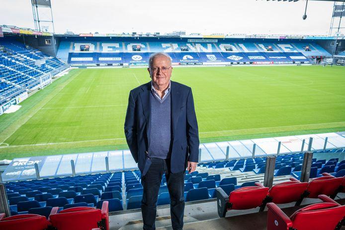 Adriaan Visser neemt later dit jaar afscheid als voorzitter van PEC Zwolle. Hij is dan ruim 12 seizoenen preses geweest.