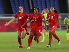 Canadese voetbalsters grijpen olympisch goud na penalty's
