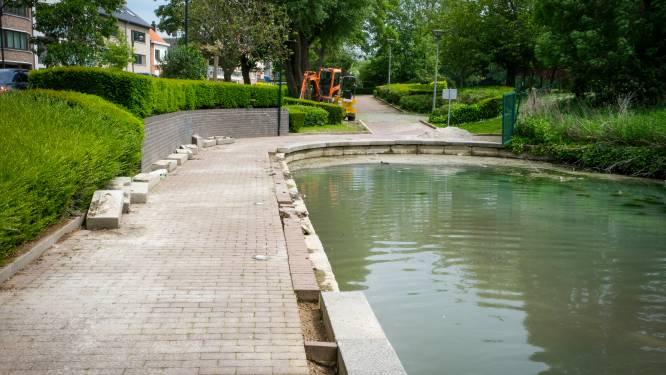Na zoveelste vandalenstreek herstelt gemeente vijver Park Mariadal