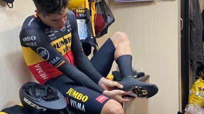 LIVE TOUR. Wout van Aert begint aan zijn tijdrit, snelt de Belgische kampioen naar een derde ritzege?