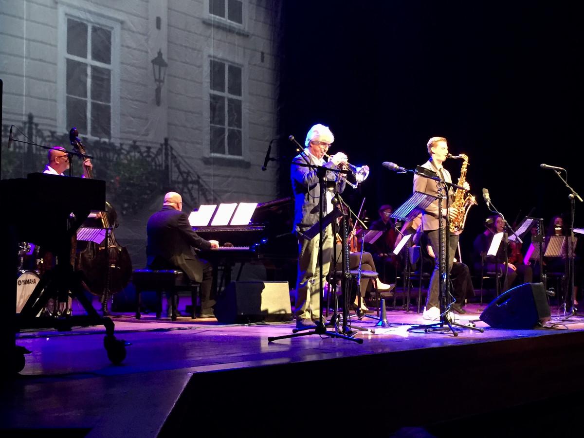 Bugelspeler Erik Bakker met saxofonist Rick van der Made.