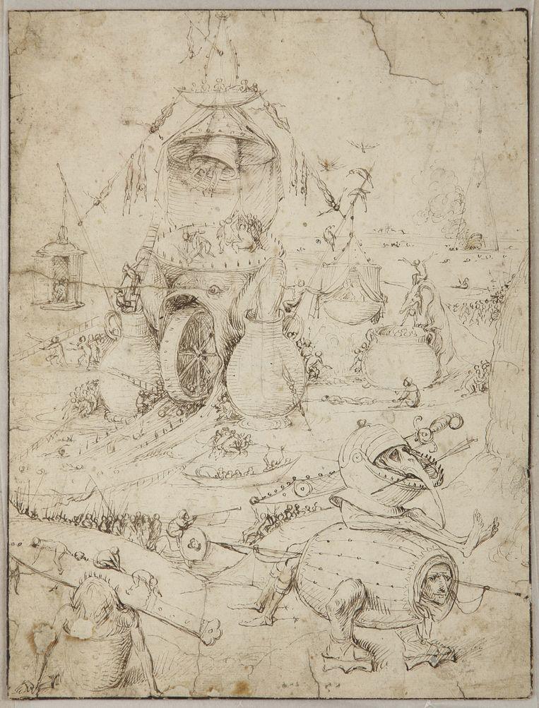 De tekening van Jeroen Bosch. Beeld null