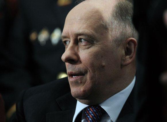 Alexander Bortnikov, topman van de Russische geheime dienst.