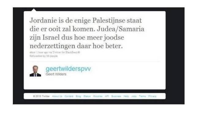 Wilders wil dat Israël Westoever volbouwt