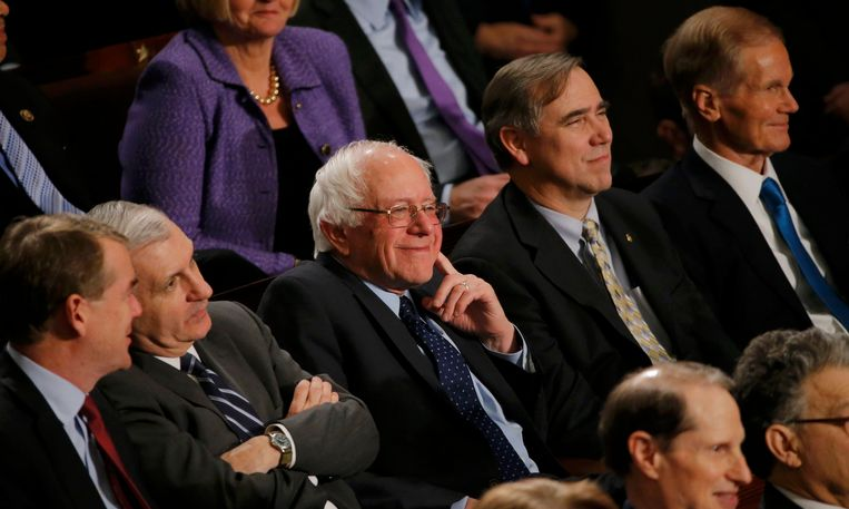 Sanders in het Amerikaanse Congres. Beeld REUTERS