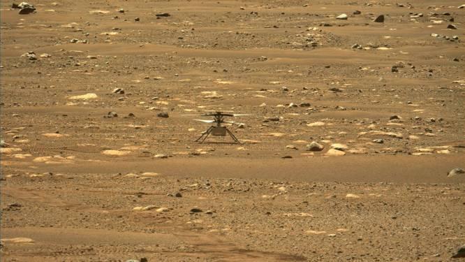 Helikopter Ingenuity nu ook voor het eerst te horen op Mars