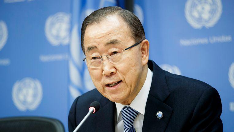Officieel mag Ban Ki-moon, die tot het conservatieve kamp wordt gerekend, pas na het einde van zijn ambtstermijn als secretaris-generaal van de Verenigde Naties op 31 december kenbaar maken of hij zich bij de volgende presidentsverkiezing in Zuid-Korea kandidaat zal stellen. Beeld EPA