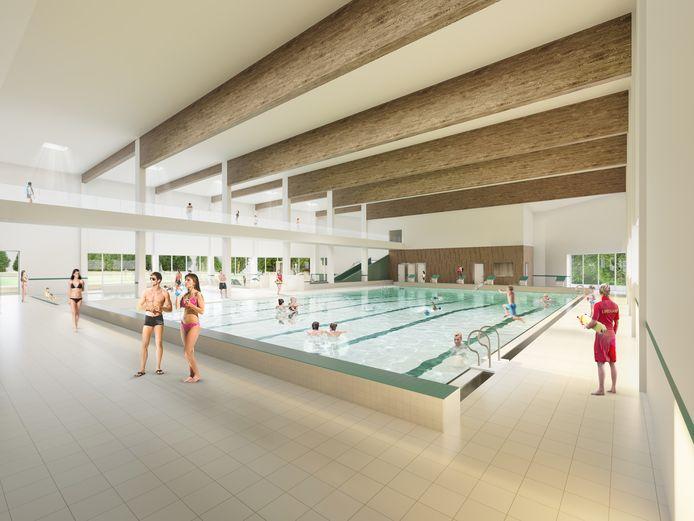 Het nieuwe zwembad heeft 6 banen, eentje meer dan het huidige.