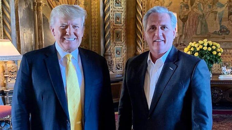 Trump met Kevin McCarthy in Mar-a-Lago Beeld PAC