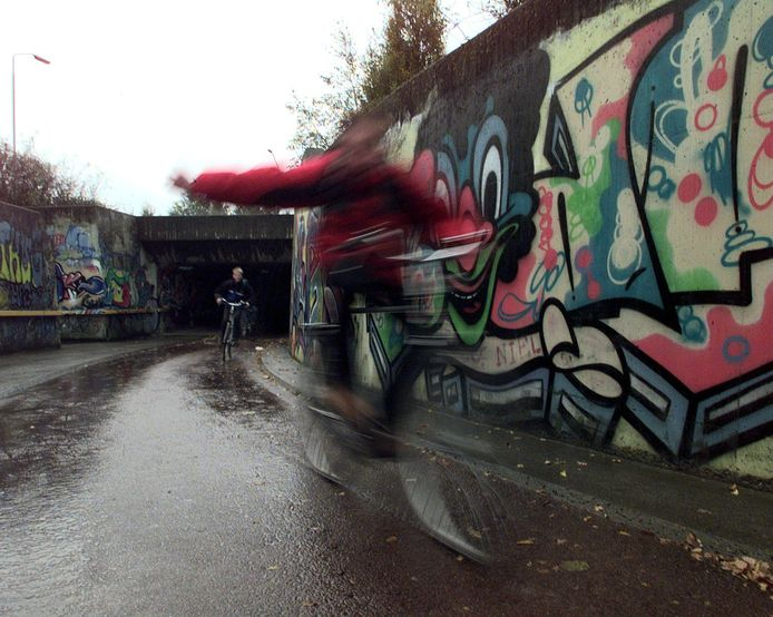 Een fietstunnel onder de A58 zoals in Etten-Leur zou de gemeente Gilze en Rijen graag hebben, maar dan wel zonder graffiti.