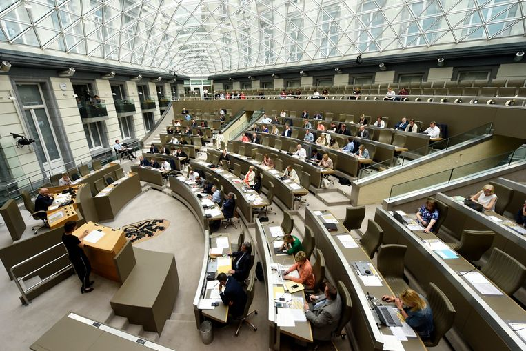 Plenaire vergadering in het Vlaams Parlement.