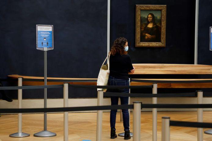 La Joconde, de Léonard de Vinci, au musée du Louvre