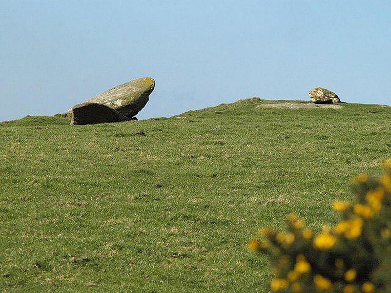 De steen in Hendraburnick Down.
