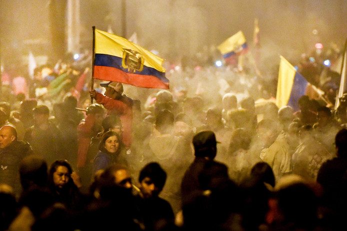 In Quito is het al weken onrustig nadat president Lening Moreno besloot een brandstofsubsidie in te trekken. De maatregel is inmiddels van de baan.