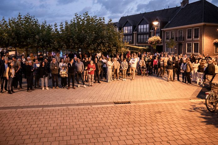 De middenstanders en andere bezorgde Zelenaars verzamelden zich voor het gemeentehuis voor aanvang van de gemeenteraad.