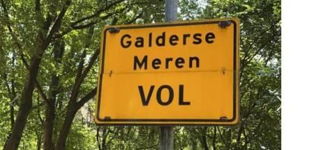 Wegen naar Galderse Meren in Breda afgesloten wegen drukte