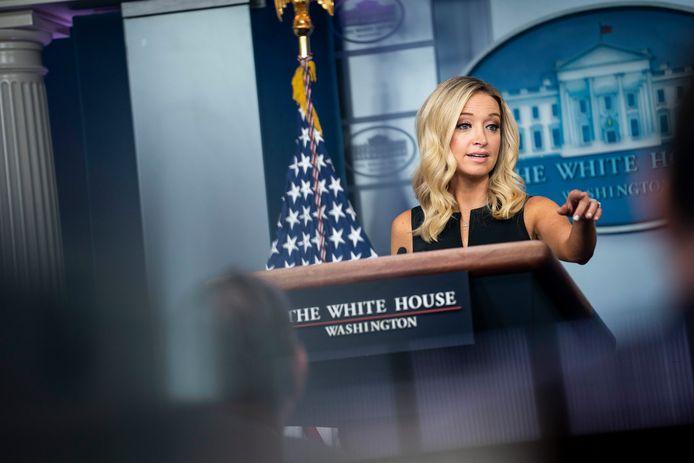"""""""Het feit dat we niet eens in de buurt van dat aantal zijn gekomen, is een bewijs dat de president onmiddellijk actie heeft ondernomen"""", zei Witte Huis-woordvoerder Kayleigh McEnany."""