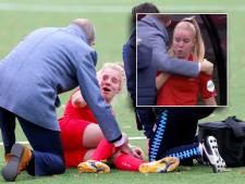 Twente-speelsters in tranen als ploeggenoot Dhont het uitschreeuwt van de pijn