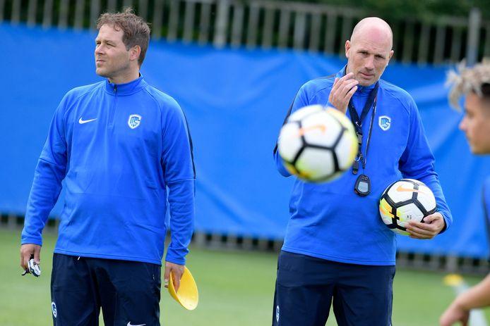 Johan Van Rumst (links) werkte bij Waasland-Beveren al samen met Philippe Clement.