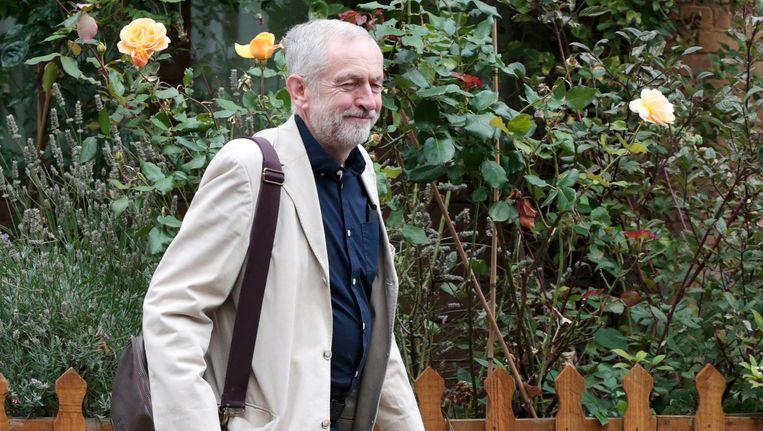 Jeremy Corbyn, de dag na zijn verkiezing tot nieuwe leider van Labour. Beeld REUTERS