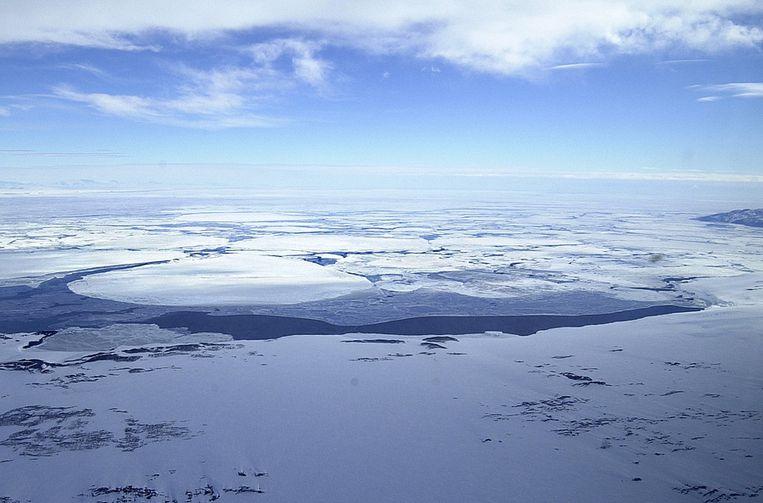 IJsbergen bij McMurdo. Beeld epa