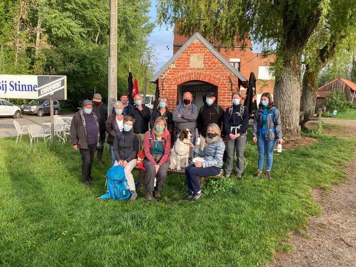 De groep wandelaars startte in Meldert.