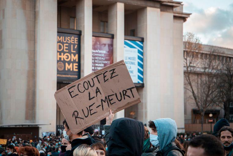 Een week eerder werd ook al geprotesteerd in Parijs tegen de wetswijziging. Beeld Shutterstock