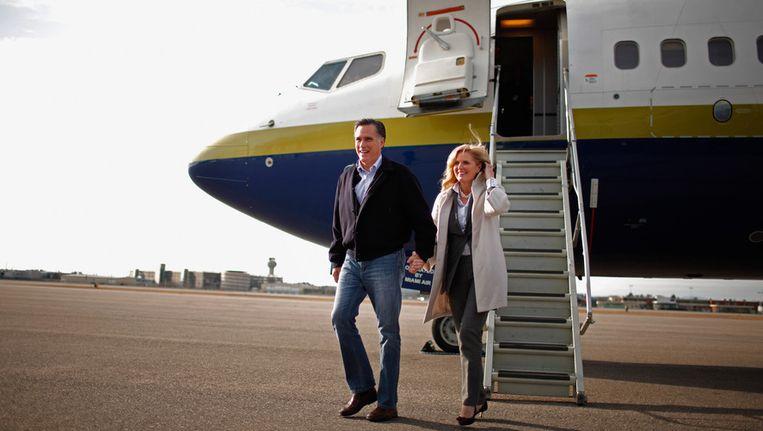 Mitt en Ann Romney. Beeld getty