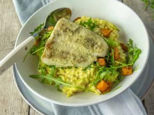 Wat Eten We Vandaag: Risotto met pompoen en pangasiusfilet