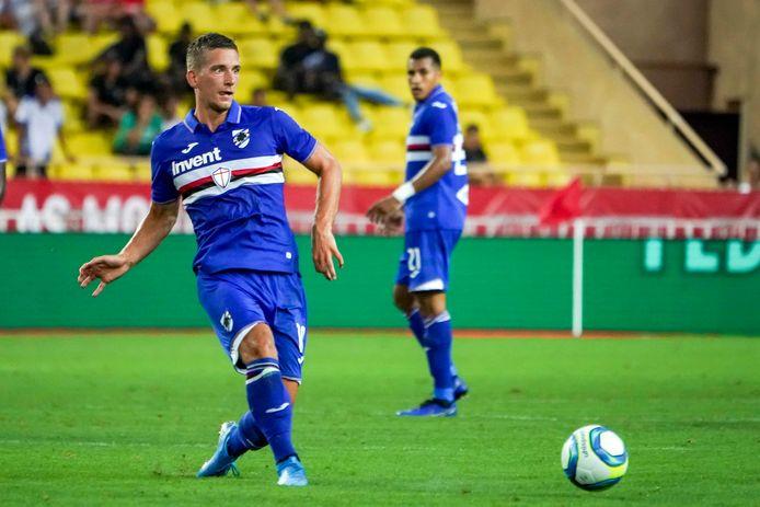 Dennis Praet bij Sampdoria.