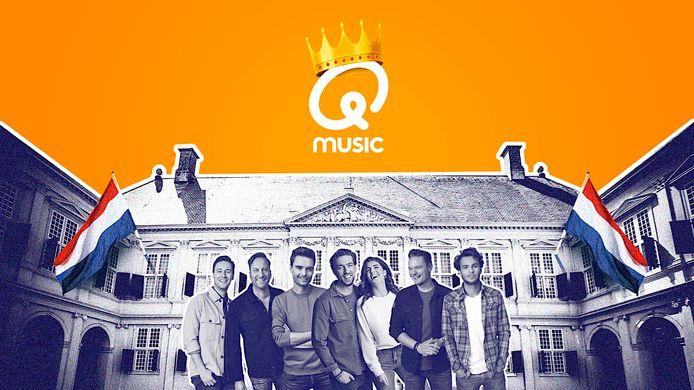 Qmusic viert Koningsdag vanaf locatie bij Paleis Noordeinde.