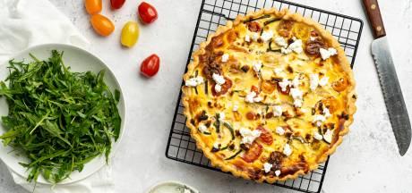 Wat Eten We Vandaag: Quiche met ricotta, tomaten en geitenkaas